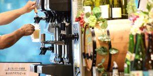 飲み放題が付いたゴルフ宿泊パックのビールサーバー