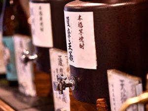飲み放題が付いたゴルフ宿泊パックのアルコールドリンクバーの地酒